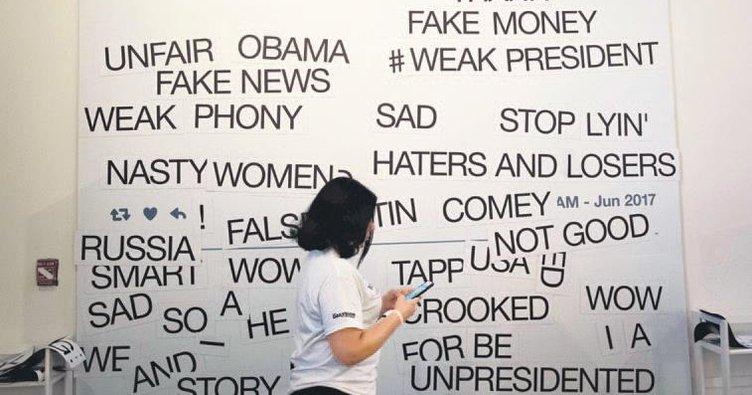 Trump tweet'leri için özel sergi