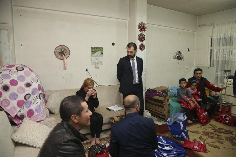Sultanbeyli'de Suriyeli aileyi ziyaret eden Lindsay Lohan gözyaşlarına boğuldu