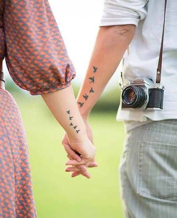 Dövme yaptırmak isteyen çiftlere dev galeri