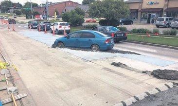 Arabasını betona batırdı 10 bin dolar ceza kesildi