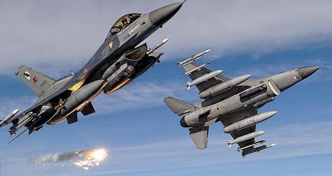 Savaş uçakları terör örgütü hedeflerini yerle bir etti