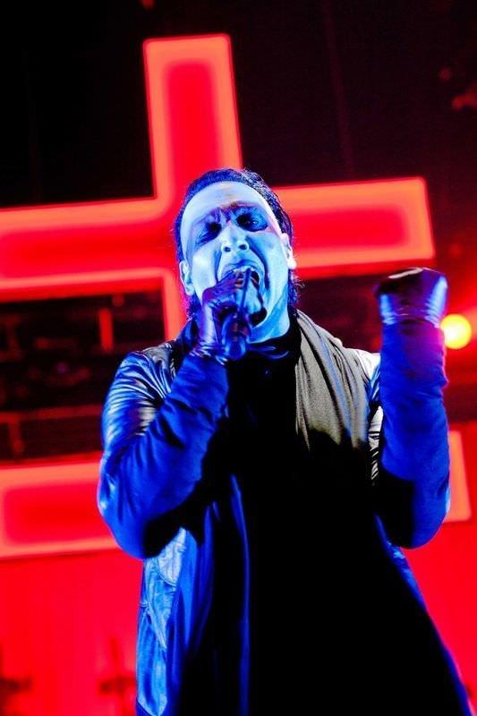 Marilyn Manson'un makyajsız hali!