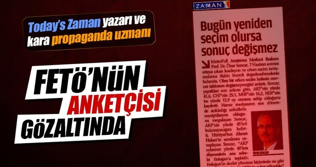 MetroPoll'ün sahibi Özer Sencar gözaltına alındı